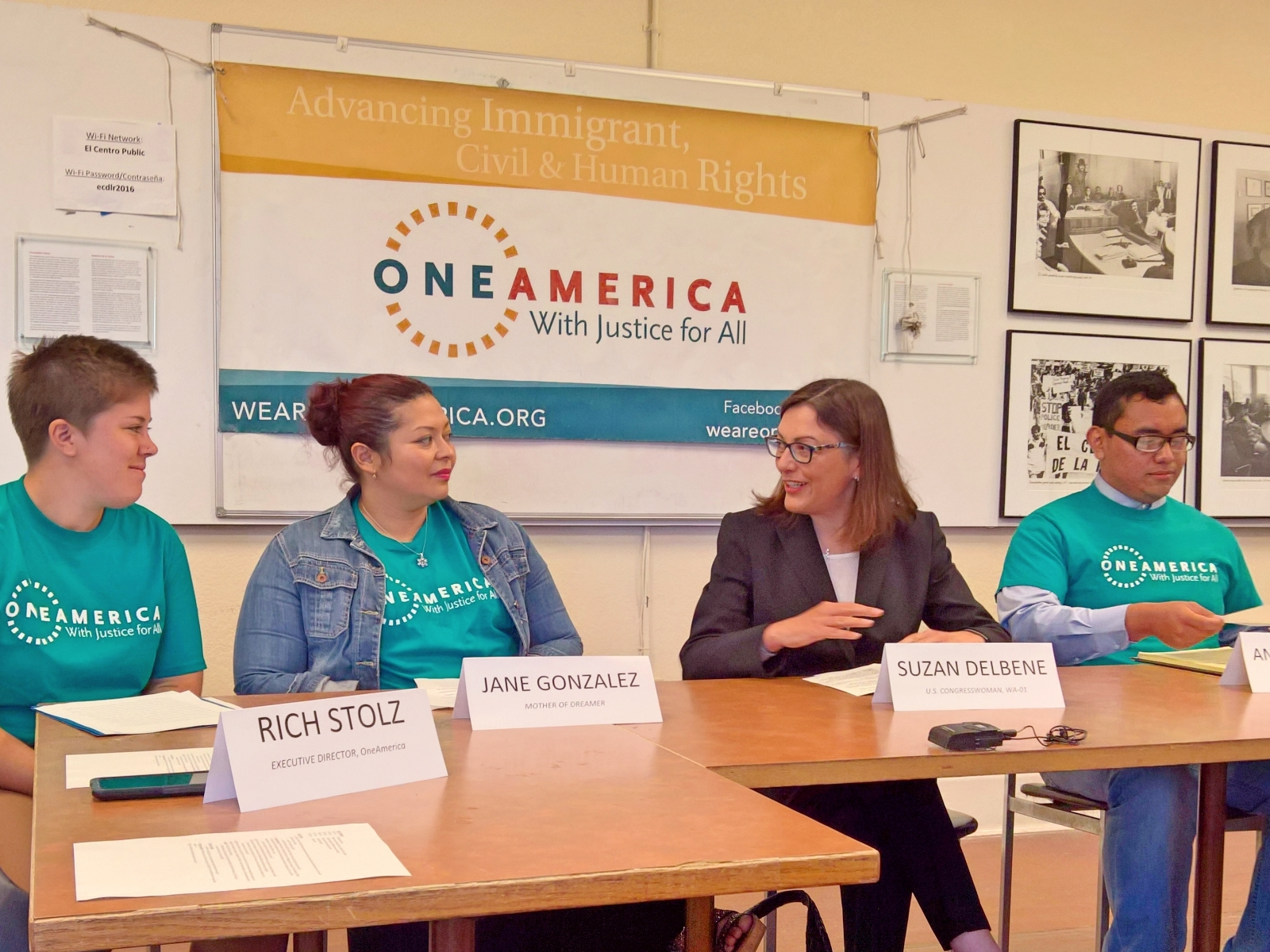 Congresswoman DelBene on a panel with the organization One America