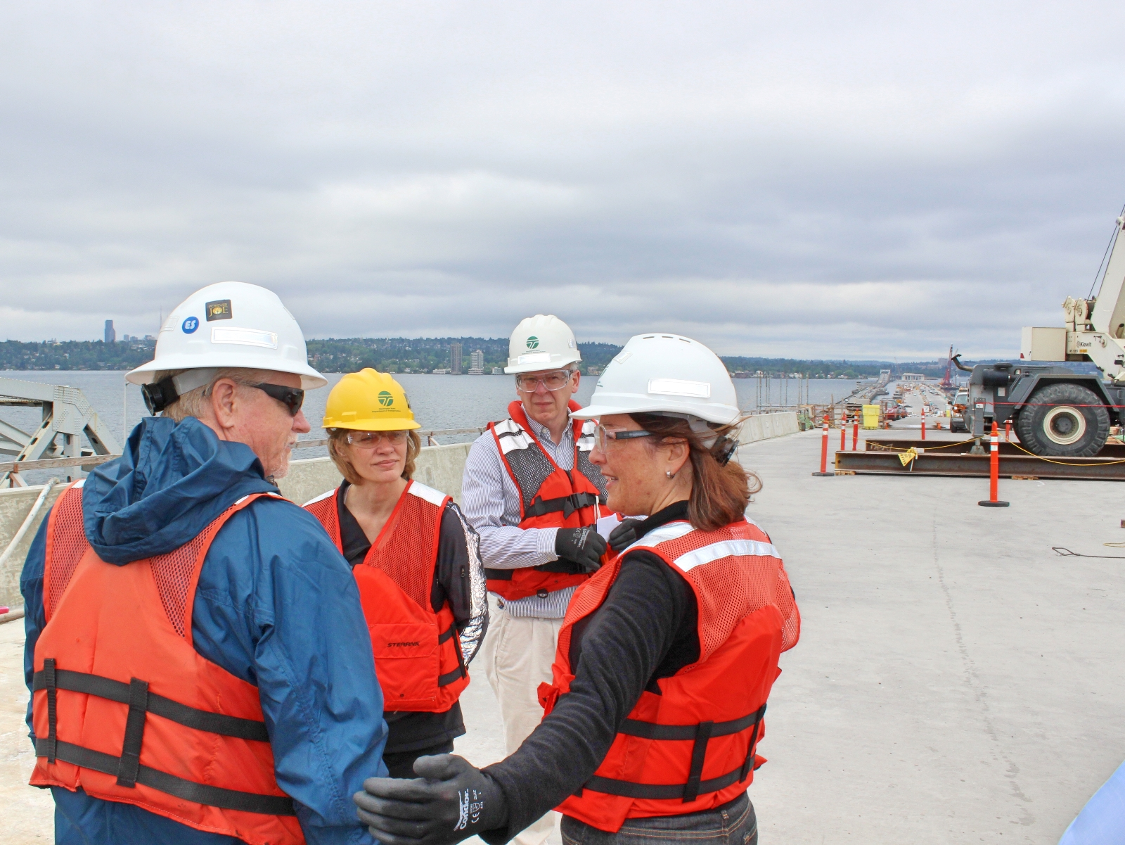 Congresswoman Suzan DelBene at a port